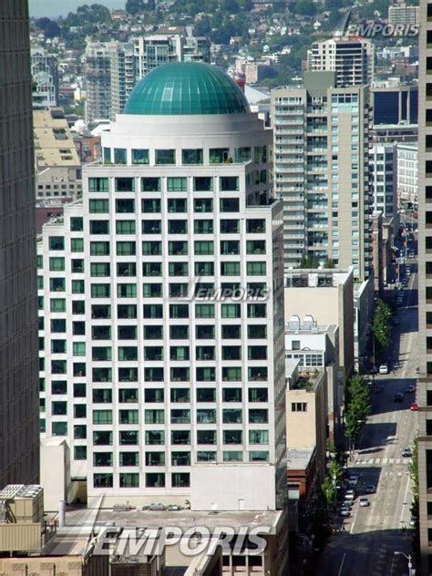 view from the 35th floor observation deck of smith tower