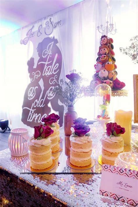 karas party ideas beauty   beast inspired wedding