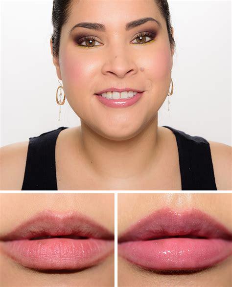 mac viva glam ariana grande  lipglass lipstick review