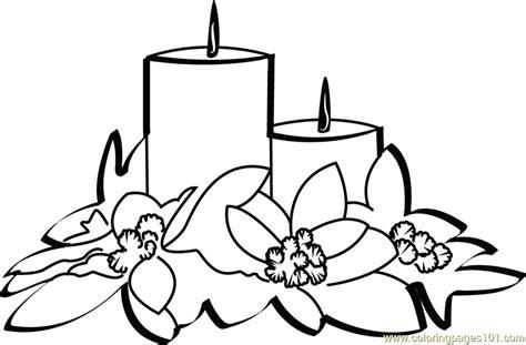 christmas candles coloring page  christmas