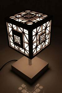 wooden lamp table cube o indigovento With cube 5 light table lamp