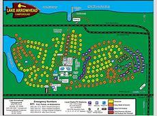 Map of Lake Arrowhead Campground, Montello, WI
