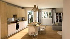 conseils amenagement sejour mh deco With amenagement cuisine en i