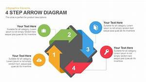 Four Step Arrows Diagram Powerpoint Template And Keynote Slide