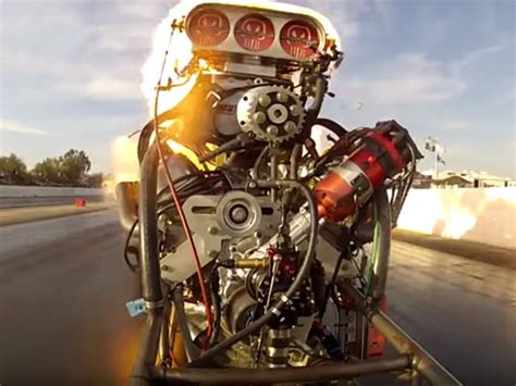Check Out This Drag Racing Engine Explosion