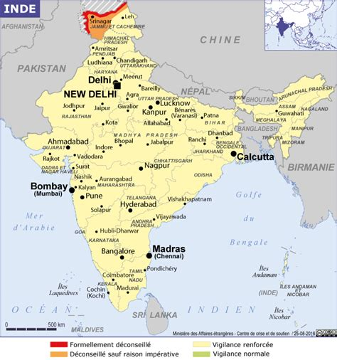 Carte Politique Du Monde Indien by Inde