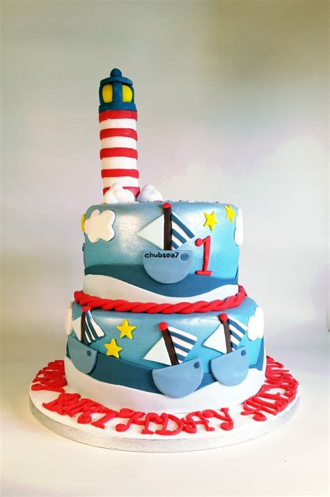 Lighthouse And Boats Nautical Sailing Cake Cakecentralcom