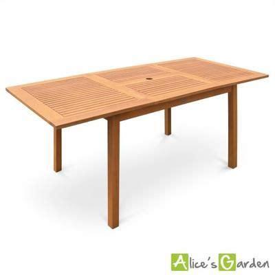 Table Carrée 8 Personnes Table De Jardin En Bois Almeria 120 180cm Rectangulaire Avec Allonge Eucalyptus Fsc Meubles