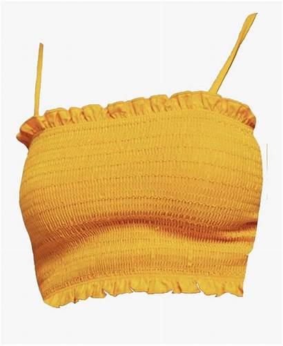 Crop Yellow Shirt Transparent Clipart Clipartkey