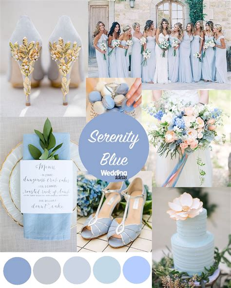 blue wedding color schemes pantone colours of the year quartz serenity blue