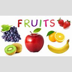 Fruit Names  Learn Fruits For Kids  English Words For Children Youtube