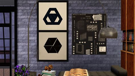 Sims 3 downloads wall decor. My Sims 3 Blog: More Wall Art by Aelisc