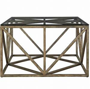 french industrial bronze metal glass top square coffee With bronze metal coffee table