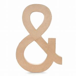 235 inch large paper mache ampersand letter With large mache letters