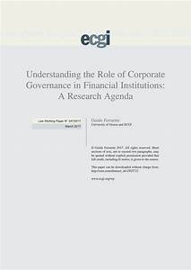 Understanding the Role of Corporate Governance in ...