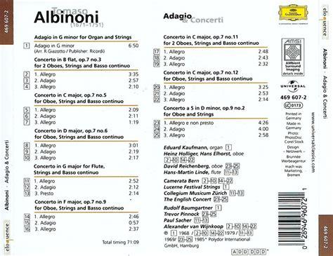 Tomaso Albinoni · Adagio & Concertos / Avaxhome