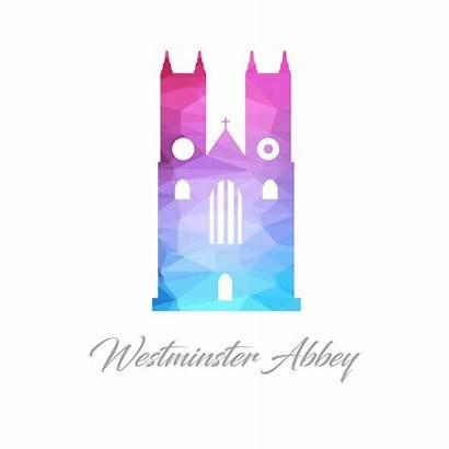 Westminster Abbey Abbazia Astratto Fatta Triangoli Monumento