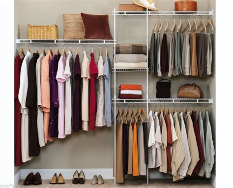 Closet Organizer Shelves System Kit Shelf Rack Clothes