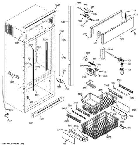 ge zicsnhblh parts list coast appliance parts