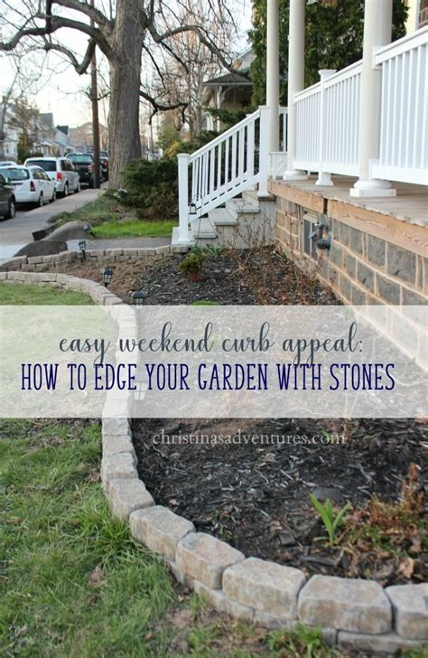 Easy Curb Appeal Garden Edging  Garden Edging, Flagstone