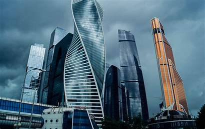 Moscow Business Russia Skyscrapers Centers Modern Architecture