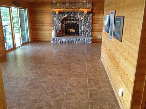 Tile Floor Gallery Custom Installations Inc Basement
