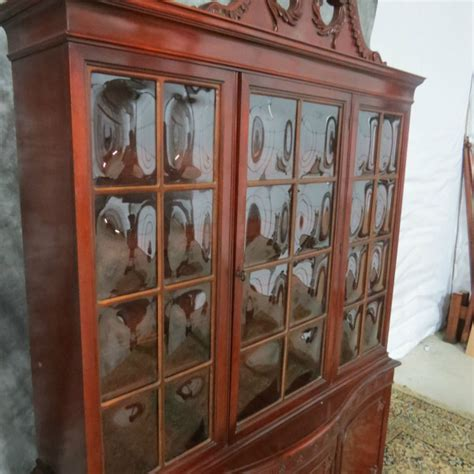 Vintage Henredon China Cabinet by Antique Mahogany China Cabinet With Bubble Glass Casey