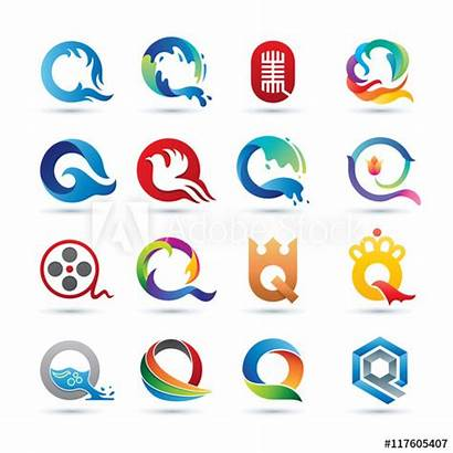 Logos Letter Vibrant Vector Abstract Colorful Icons