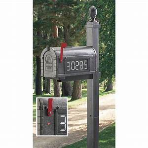 Solar, Lighted, Mailbox, With, Post