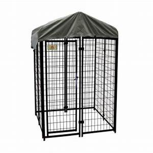 kennelmaster 4 ft x 4 ft x 6 ft welded wire dog fence With outside dog kennels home depot