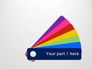 Color Fan Guide Menu For Powerpoint