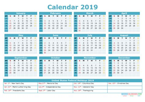 printable yearly calendar holidays image