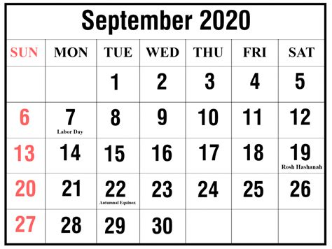 printable september  calendar templates pdfword