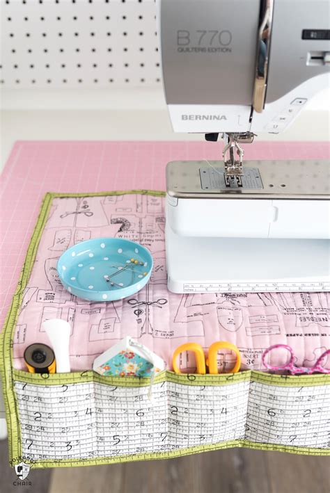 stay organized   diy sewing machine mat