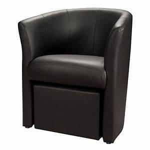 C Discount Fauteuil : fauteuil cabriolet cuir avec pouf ~ Teatrodelosmanantiales.com Idées de Décoration