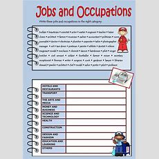 Jobs And Occupations Worksheet  Free Esl Printable Worksheets Made By Teachers