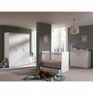 chambre complete bebe 5p quotmilanquot blanc With chambre bébé design avec livraison de fleurs le jour meme