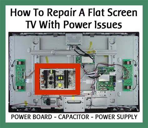 how to replace the l in a tv repair a flat screen lcd tv with power issues power