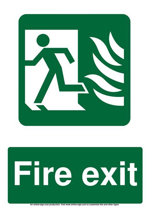 fire door signs poster template