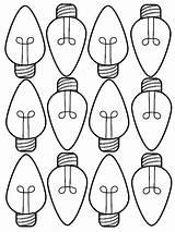 Coloring Bulb Christmas Lights Bulbs Printable Pages Drawing Template Holiday Sheet Sheets Line Lightbulb Drawings Tree Getdrawings Crayola Printables Getcolorings sketch template