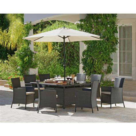 buy bali rattan effect 8 seater patio furniture set