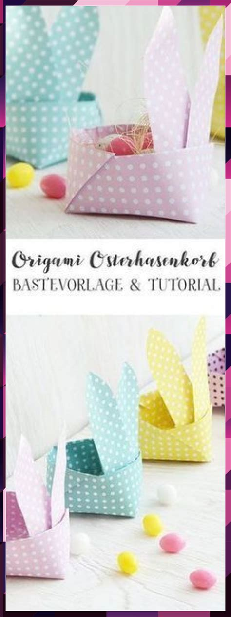 Click here for the full size printable pdf this is a cute digital collage sheet that i made last spring, for a series of online classes that i was involved with. Origami Osterhasen Korb - kostenlose Vorlage als PDF #als ...