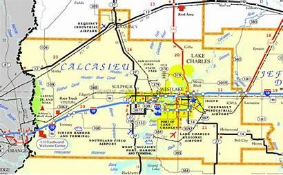 Parish Calcasieu Louisiana Map Dotd District Landry