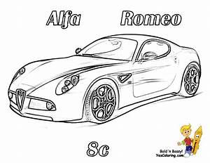 mega sports car coloring pages sports cars free nascar With alfa romeo drawings