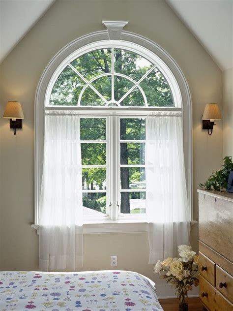 25 best ideas about arched window treatments on