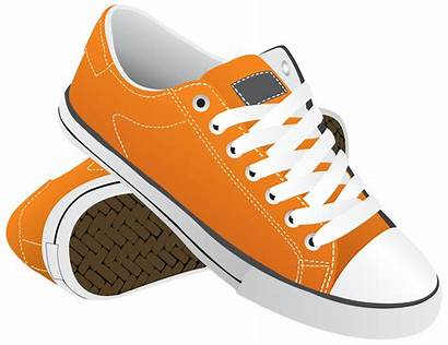Shoes Transparent Sneakers Clipart Shoe Orange Sneaker