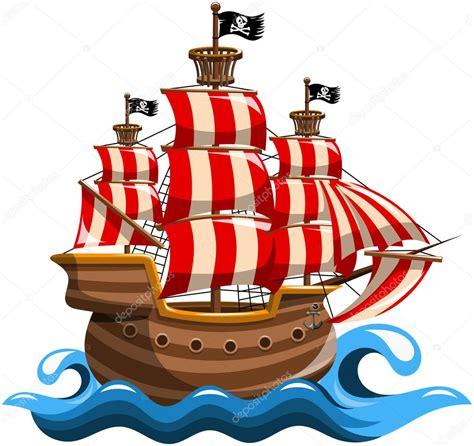 Imagenes De Barcos Vector by Barco Pirata Aislado Vector De Stock 169 Canbedone 86262676