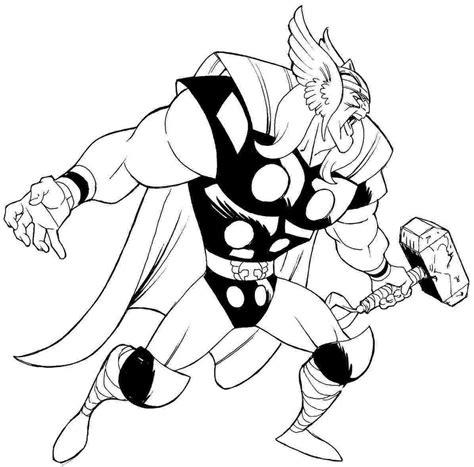 Kleurplaat Thor by Thor Coloring Pages Sure Free Printable
