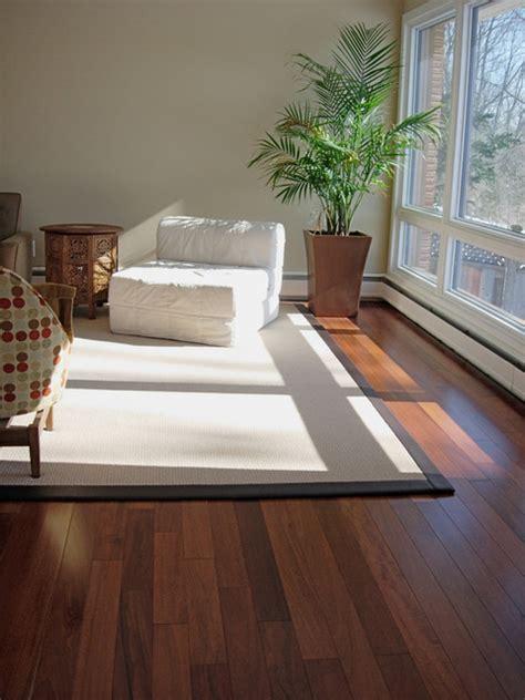 Brazilian Mahogany Hardwood Floor Installation