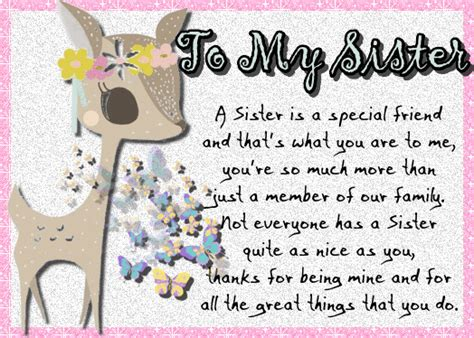 sisters   special  sister ecards greeting
